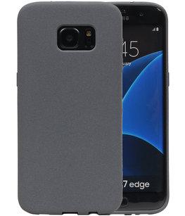 Grijs Zand TPU back case cover voor Hoesje voor Samsung Galaxy S7 Edge