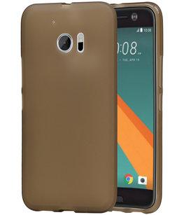 Hoesje voor HTC 10 TPU Back Cover Transparant Grijs