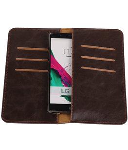 Mocca Pull-up Large Pu portemonnee wallet voor LG