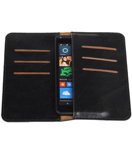 Zwart Pull-up Medium Pu portemonnee wallet voor Microsoft