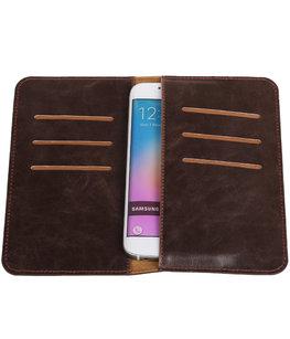 Mocca Pull-up Medium Pu portemonnee wallet voor Samsung