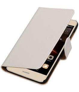 Wit Effen booktype wallet cover voor Hoesje voor Huawei Y5 II