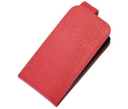Roze Ribbel Classic flip case cover voor Hoesje voor Apple iPhone 5 / 5s / SE