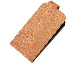 Licht Roze Ribbel Classic flip case cover voor Hoesje voor Sony Xperia M