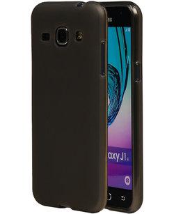 Hoesje voor Samsung Galaxy J1 2016 TPU Cover Transparant Grijs