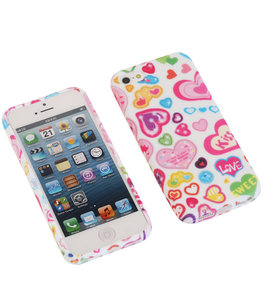 Kiss TPU back case cover voor Hoesje voor Apple iPhone 5 / 5s / SE
