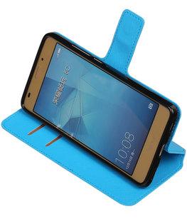Blauw Hoesje voor Huawei Honor 5c TPU wallet case booktype HM Book