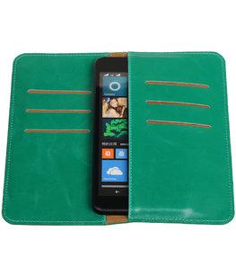 Groen Pull-up Large Pu portemonnee wallet voor Sony