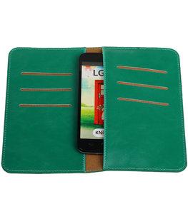 Groen Pull-up Medium Pu portemonnee wallet voor LG