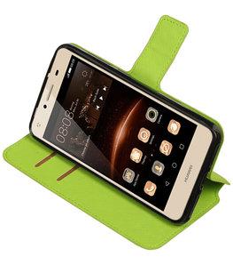 Groen Hoesje voor Huawei Y5 II TPU wallet case booktype HM Book