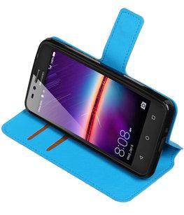 Blauw Hoesje voor Huawei Y3 II TPU wallet case booktype HM Book
