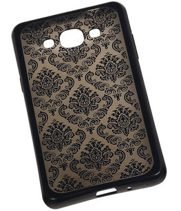 Zwart Brocant TPU back case cover voor Hoesje voor Samsung Galaxy J3 Pro