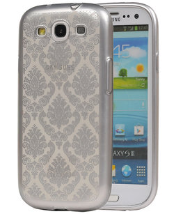 Zilver Brocant TPU back case cover voor Hoesje voor Samsung Galaxy S3