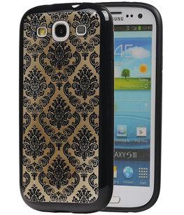 Zwart Brocant TPU back case cover voor Hoesje voor Samsung Galaxy S3