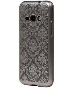 Zilver Brocant TPU back case cover voor Hoesje voor Samsung Galaxy J2 2016