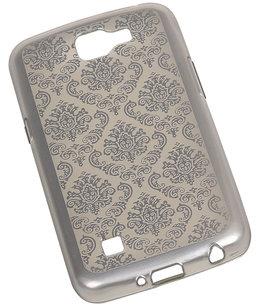 Zilver Brocant TPU back case cover voor Hoesje voor LG K4