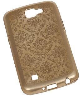 Goud Brocant TPU back case cover voor Hoesje voor LG K4