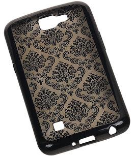 Zwart Brocant TPU back case cover voor Hoesje voor LG K4
