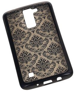 Zwart Brocant TPU back case cover voor Hoesje voor LG K8 2016