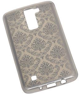 Zilver Brocant TPU back case cover voor Hoesje voor LG K8