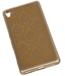 Goud Brocant TPU back case cover voor Hoesje voor Sony Xperia X