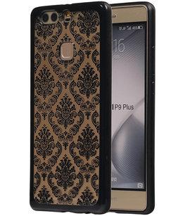 Zwart Brocant TPU back case cover voor Hoesje voor Huawei P9 Plus