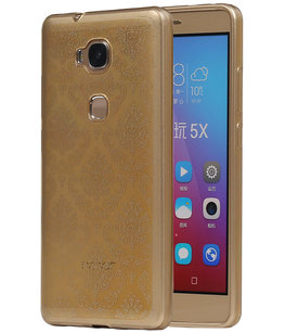 Goud Brocant TPU back case cover voor Hoesje voor Huawei Honor 5X
