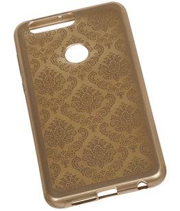 Goud Brocant TPU back case cover voor Hoesje voor Huawei Honor 8