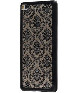 Zwart Brocant TPU back case cover voor Hoesje voor Huawei Honor 7i