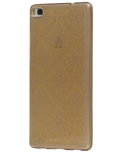 Goud Brocant TPU back case cover voor Hoesje voor Huawei Honor 7i