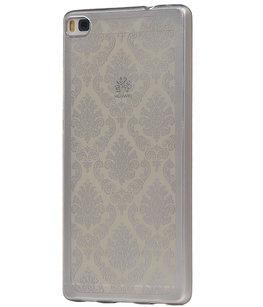 Zilver Brocant TPU back case cover voor Hoesje voor Huawei Honor 7i