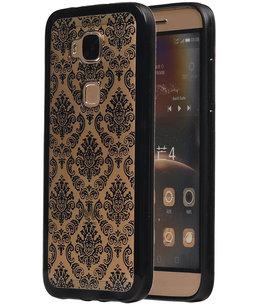 Zwart Brocant TPU back case cover voor Hoesje voor Huawei G8