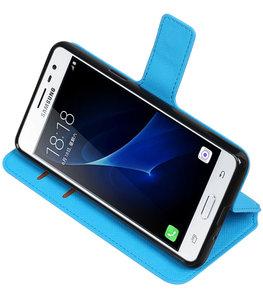 Blauw Hoesje voor Samsung Galaxy J3 Pro TPU wallet case booktype HM Book