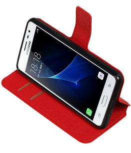 Rood Hoesje voor Samsung Galaxy J3 Pro TPU wallet case booktype HM Book