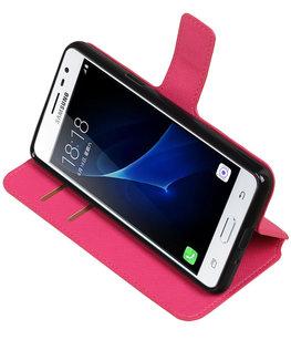 Roze Hoesje voor Samsung Galaxy J3 Pro TPU wallet case booktype HM Book