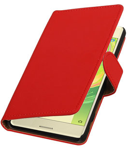 Rood Effen booktype cover voor Hoesje voor Sony Xperia X