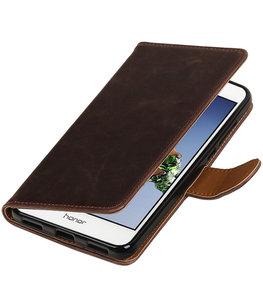Mocca Pull-Up PU booktype wallet voor Hoesje voor Huawei Holly 3 / Y6 II