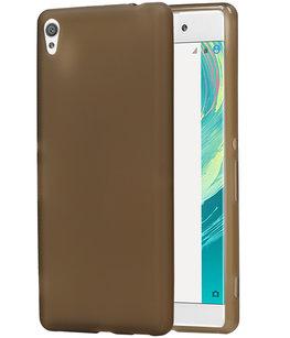 Hoesje voor Sony Xperia C6 TPU Cover Transparant Grijs