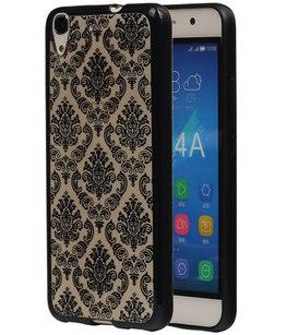 Zwart Brocant TPU back cover voor Hoesje voor Huawei Honor Y6 / 4A