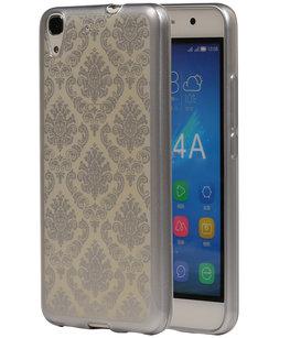 Zilver Brocant TPU back cover voor Hoesje voor Huawei Honor Y6 / 4A