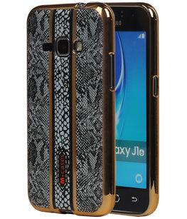 M-Cases Zwart Slang Design TPU back case voor Hoesje voor Samsung Galaxy J1 2016