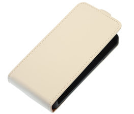 Wit Effen Flip case voor Hoesje voor Apple iPhone 4 / 4S