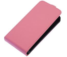 Roze Effen Flip case voor Hoesje voor Apple iPhone 5 / 5S / SE