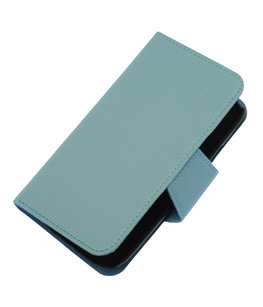 Licht Blauw Hoesje voor Samsung Galaxy S I9000 cover case booktype Ultra Book