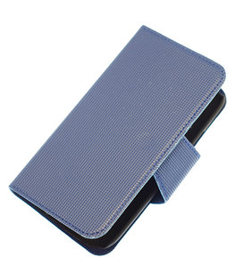 Donker Blauw Hoesje voor Apple iPhone 4 / 4s cover case booktype Ultra Book