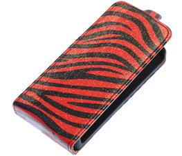 Rood Zebra Flip case voor Hoesje voor Samsung Galaxy S3 I9300