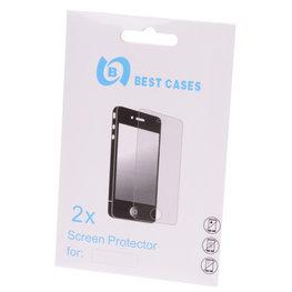 Bestcases Hoesje voor HTC One M7 2x Screenprotector Display Beschermfolie