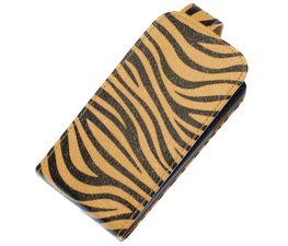 Bruin Zebra Classic Flip case voor Hoesje voor Nokia Lumia 920