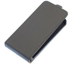 Zwart Effen Flip case voor Hoesje voor HTC One M7