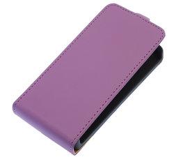 Paars Effen Flip case voor Hoesje voor HTC One M7